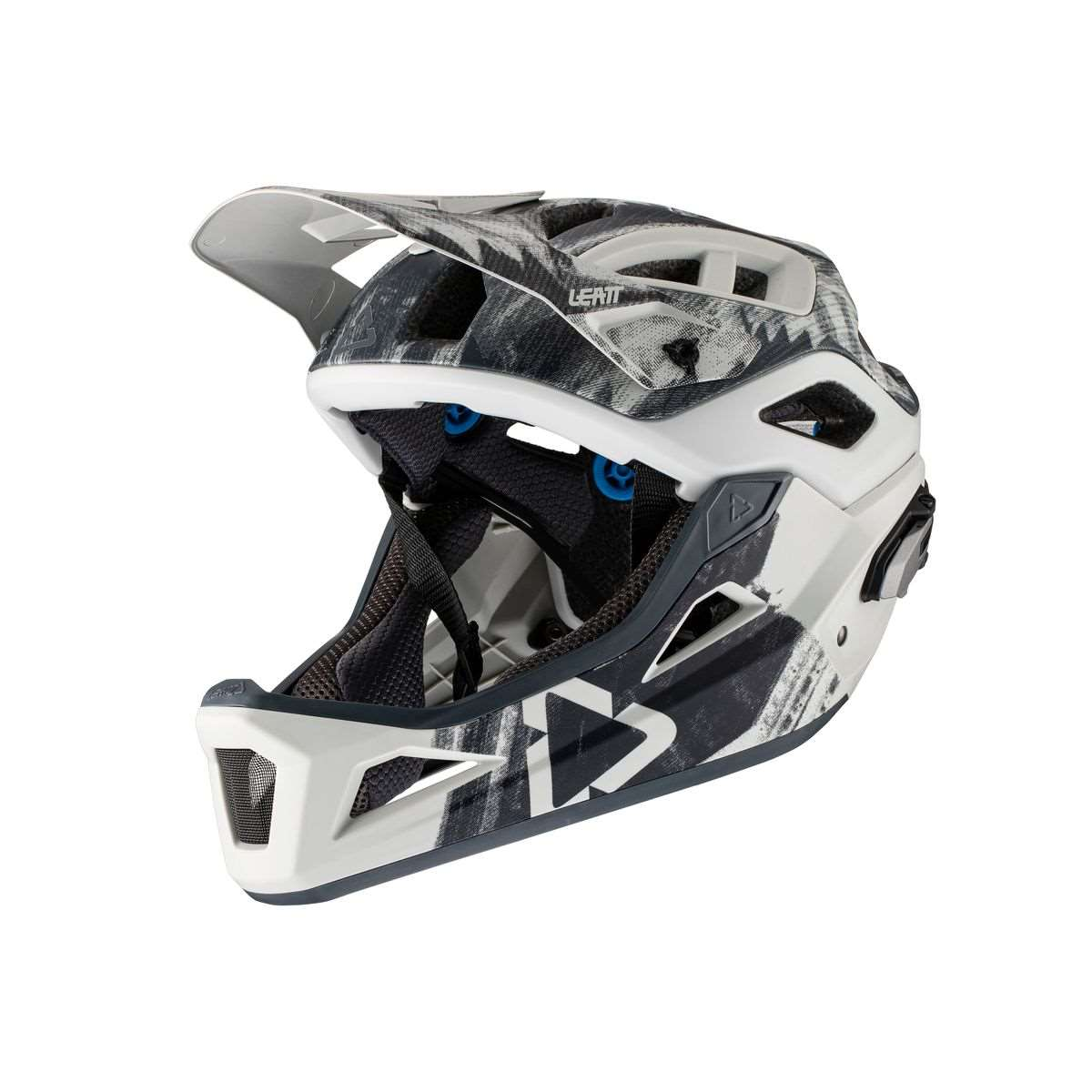 Casco Leatt MTB 3.0 Enduro v21.2 Steel mentoniera staccabile